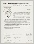 view Letter requesting support for the Anti-Apartheid Day rally digital asset number 1