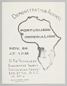 view Flyer for demonstration against Portuguese imperialism in Africa digital asset number 1