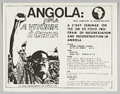 view Flyer advertising an event entitled Angola: From Liberation to Reconstruction digital asset number 1
