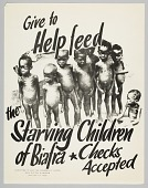 view Flyer advertising a donation drive to help the starving children in Biafra digital asset number 1