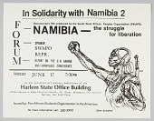 view Flyer announcing a forum and film showing on Namibia digital asset number 1