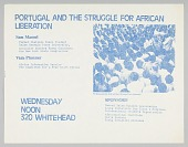view Flyer advertising an event about Portugal and African liberation digital asset number 1