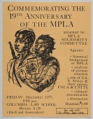 view Flyer announcing the commemoration of the 19th anniversary of the MPLA digital asset number 1