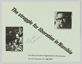 """view Pamphlet titled """"The struggle for liberation in Namibia"""" digital asset number 1"""