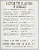 view Flyer advertising a protest against slaughter in Rhodesia digital asset number 1