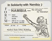 view Flyer advertising a forum and film showing on Namibia digital asset number 1