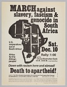 view Flyer announcing a protest against apartheid in South Africa digital asset number 1