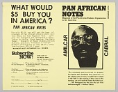view Flyer soliciting subscription to Pan African Notes magazine digital asset number 1