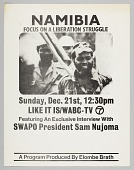view Flyer advertising television program about liberation in Namibia digital asset number 1