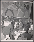 view Gelatin silver print of Lead Belly playing the guitar digital asset number 1