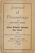 view <I>Journal of Proceedings of the Thirty-Eighth Session of the African Methodist Episcopal Zion Church</I> digital asset number 1