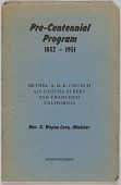 view <I>Pre-Centennial Program: 1852-1951</I> digital asset number 1
