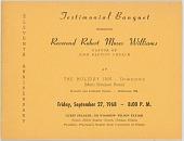 view <I>Testimonial Banquet Honoring Reverend Robert Moses Williams</I> digital asset number 1