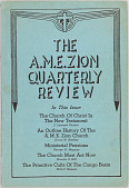 view <I>The A.M.E. Zion Quarterly Review: Volume LV, No. 3</I> digital asset number 1