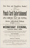 view Handbill advertising a punch card event at A.M.E. Zion Church Stony Brook digital asset number 1