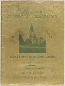 view <I>Souvenir Centennial Celebration: Bethel Baptist Institutional Church Golden Jubilee</I> digital asset number 1