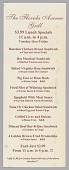 view Menu insert from the Florida Avenue Grill restaurant digital asset number 1