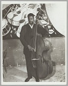 view <I>Unknown bass player, c. mid 1950s</I> digital asset number 1