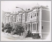view <I>Row of victorian houses in the western addition of San Francisco, c. late 1960's</I> digital asset number 1