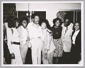 view <I>Mary Wilson, Dee Dee Warwick, Billy Eckstine, Lena Horne, Dionne Warwick, radio DJ Detroit Benson, unknown girl singer</I> digital asset number 1
