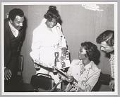 view <I>Linda Jackson gets Dionne Warwick's autograph, Circle Star Theater, San Carlos, CA, June 1973</I> digital asset number 1