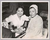 view <I>Billie Holiday with popular Bop City waitress, c. 1952</I> digital asset number 1