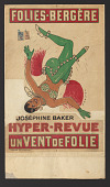 view Poster advertising a Josephine Baker performance at the Folies Bergère digital asset number 1