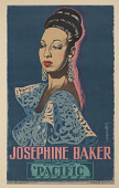 view Poster of Josephine Baker for Compagnie Générale Du Disque - Pacific digital asset number 1
