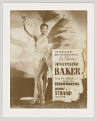 view Poster of Josephine Baker advertising her performance at the Strand Theater digital asset number 1