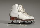 view Pair of white figure skates worn by Debi Thomas digital asset number 1