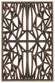 view Corona panel designed for NMAAHC (Type A: 65% opacity) digital asset number 1