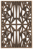 view Corona panel designed for NMAAHC (Type C: 75% opacity) digital asset number 1