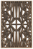view Corona panel designed for NMAAHC (Type E: 85% opacity) digital asset number 1