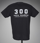 view Black t-shirt for 300 Men March worn at a rally after the death of Freddie Gray digital asset number 1