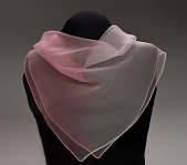 view Pink ombre gauze handkerchief from Mae's Millinery Shop digital asset number 1