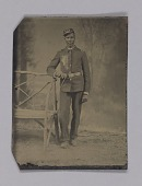 view Tintype of a highly decorated Buffalo soldier digital asset number 1