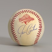 view Baseball from the 1992 World Series autographed by Joe Carter digital asset number 1