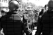 view Digital image of police officers in riot gear digital asset number 1