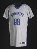 view Basketball jersey for Brooklyn Nets worn by Jason Collins, signed by teammates digital asset number 1