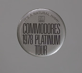 view Pin back button from Commodores 1978 Platinum Tour digital asset number 1