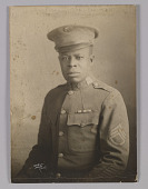 view Framed photograph of unidentified WWI soldier digital asset number 1