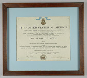 view Medal of Honor Citation issued for First Lieutenant John E. Warren, Jr. digital asset number 1