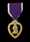 view Purple Heart issued for First Lieutenant John E. Warren, Jr. digital asset number 1