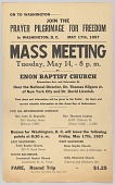 "view Flier for ""Prayer Pilgrimage for Freedom"" meeting at Enon Baptist Church digital asset number 1"