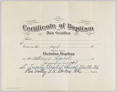 view Certificate of baptism signed by Rev. Volley V. K. Stokes digital asset number 1