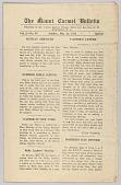 view <I>The Mount Carmel Bulletin Vol. 2 No. 83</I> digital asset number 1