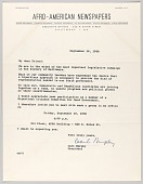 view Letter from Carl Murphy and Afro-American Newspapers digital asset number 1
