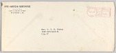 view Envelope for a letter from Afro-American Newspapers to Rev. V. Stokes digital asset number 1