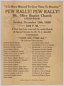 view Flier for a Mount Olive Baptist Church rally digital asset number 1