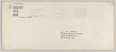 view Envelope for letter from H.W. Sewing for Daisy Bates Trust Fund digital asset number 1